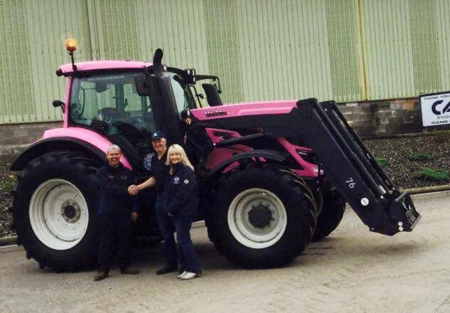 pink tractor image